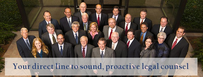 Your direct line to sound, proactive legal counsel